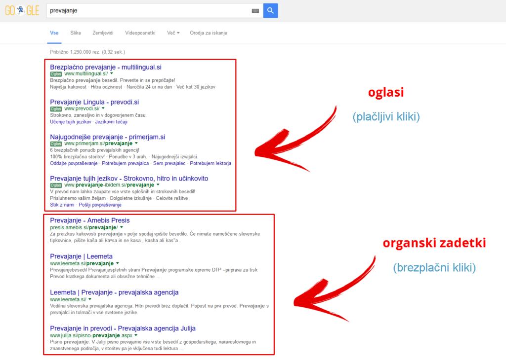Rezultati iskanja - Google
